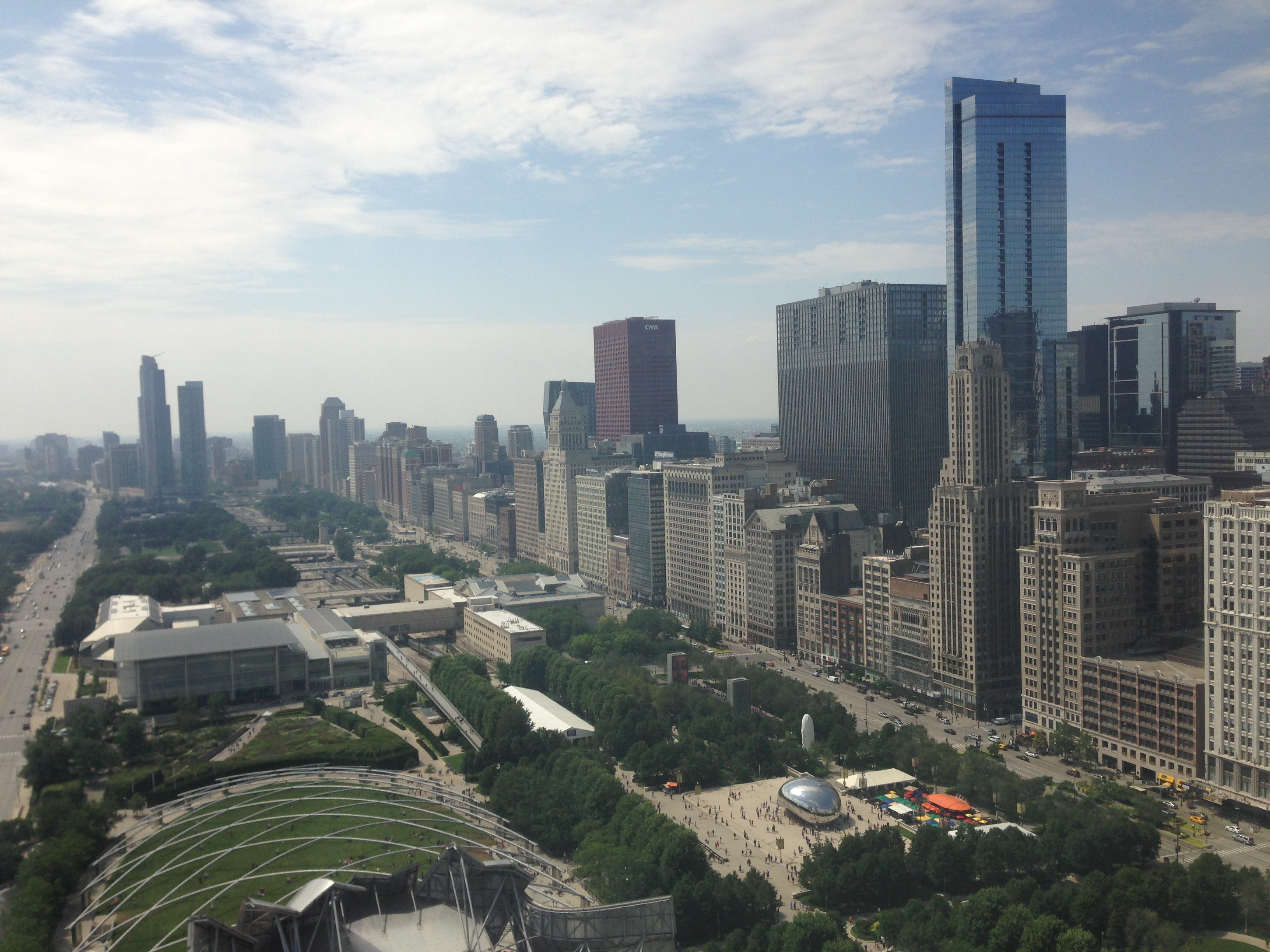 overlooking Millennium Park, Chicago, Illinois