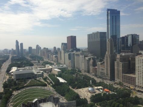 overlooking Millennium Park, Chicago, Illinois