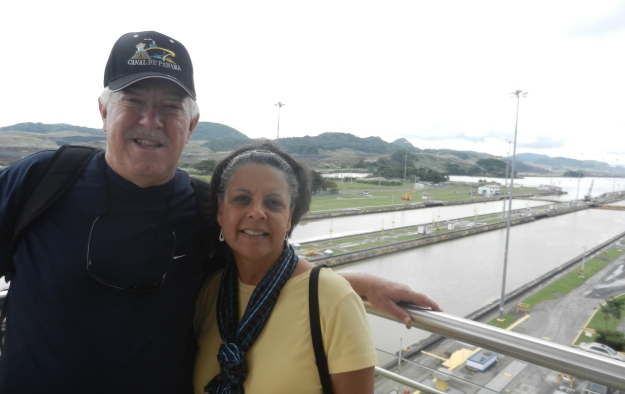 Raymond and Dr. Aletha standing at the Panama Canal