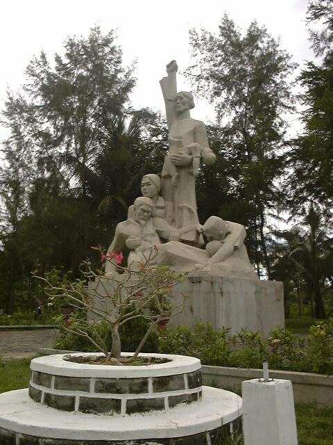 a statue at a war memorial in Vietnam