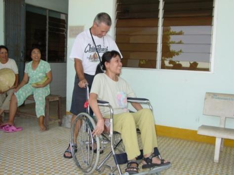 VWAM CEO Chuck Ward, VietNam veteran, on a previous trip