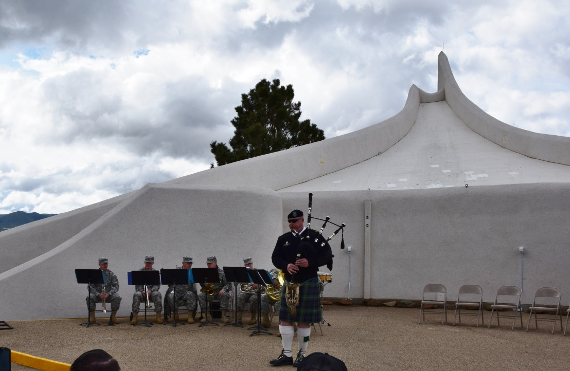 music by a local military reserve unit