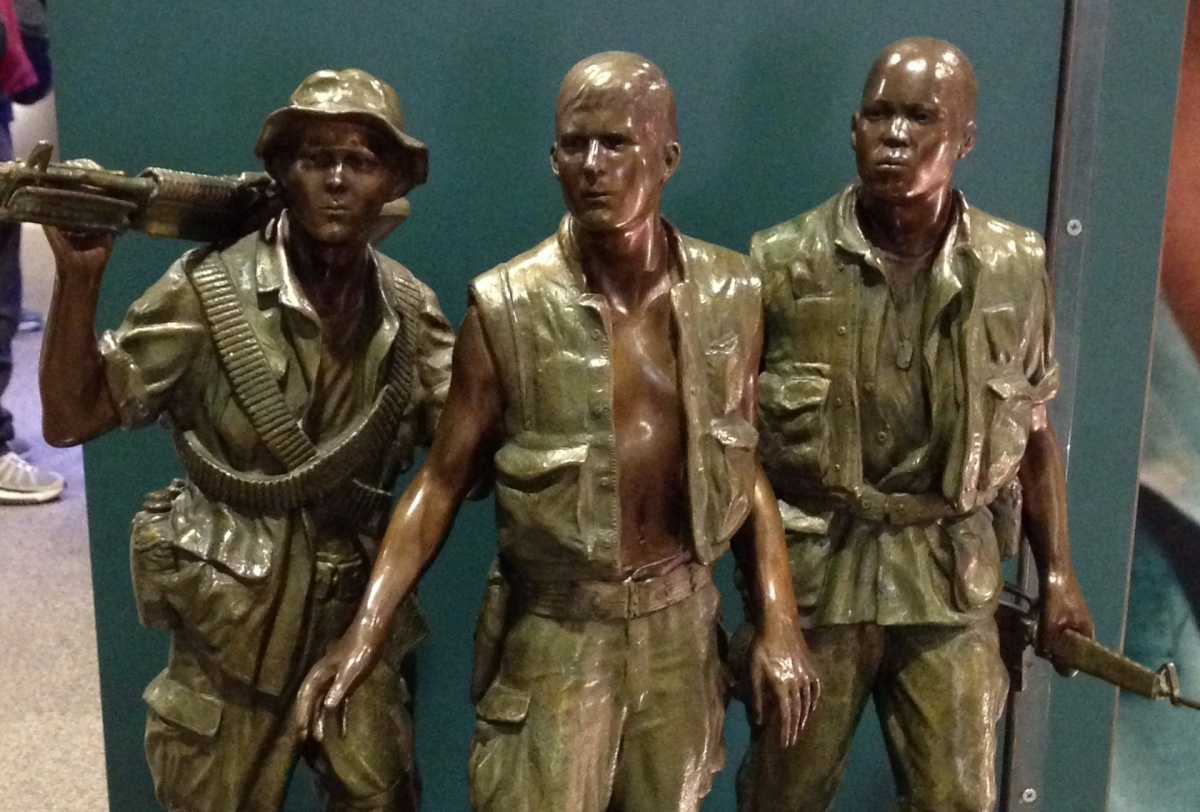 Three Servicemen, Vietnam Veterans Memorial replica