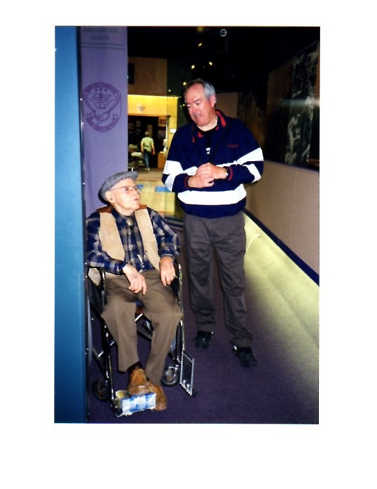 Raymond with the late Dr. Westphal, who founded the memorial in honor of his son who died in Vietnam (an old photo)