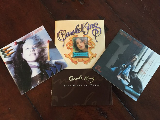 inserts from our Carole King music CD collection