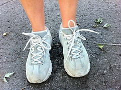 feet in sports shoes
