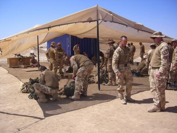 American soldiers serving in Afghanistan