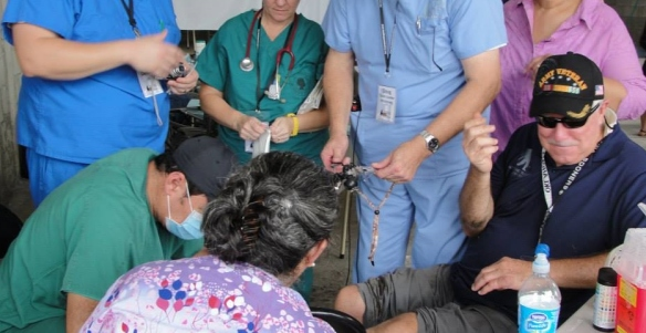 While on a mission trip to Panama, my husband had a near emergency when a board flew into his leg causing a deep gash; our medical team members took care of the injury right on the clinic site, and he recovered without permanent damage