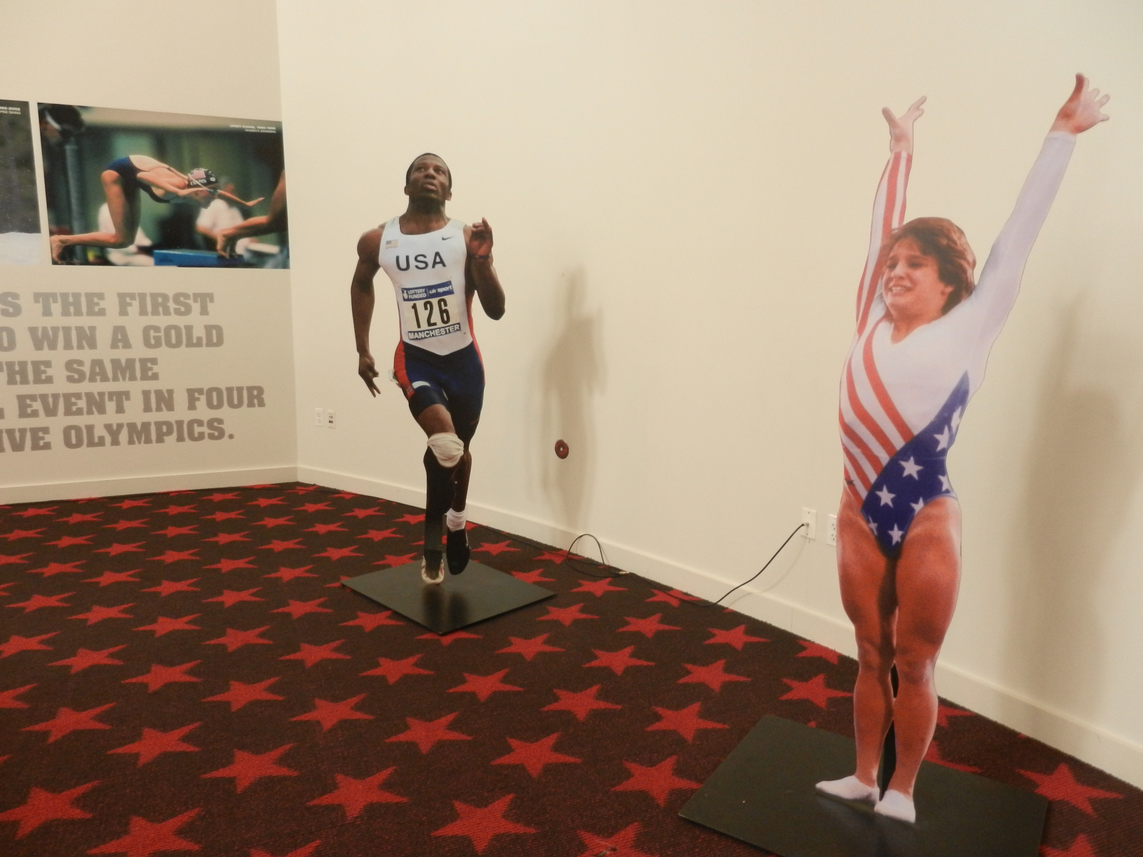 two champion athletes