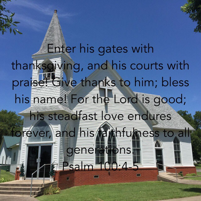 country church, Psalm 100