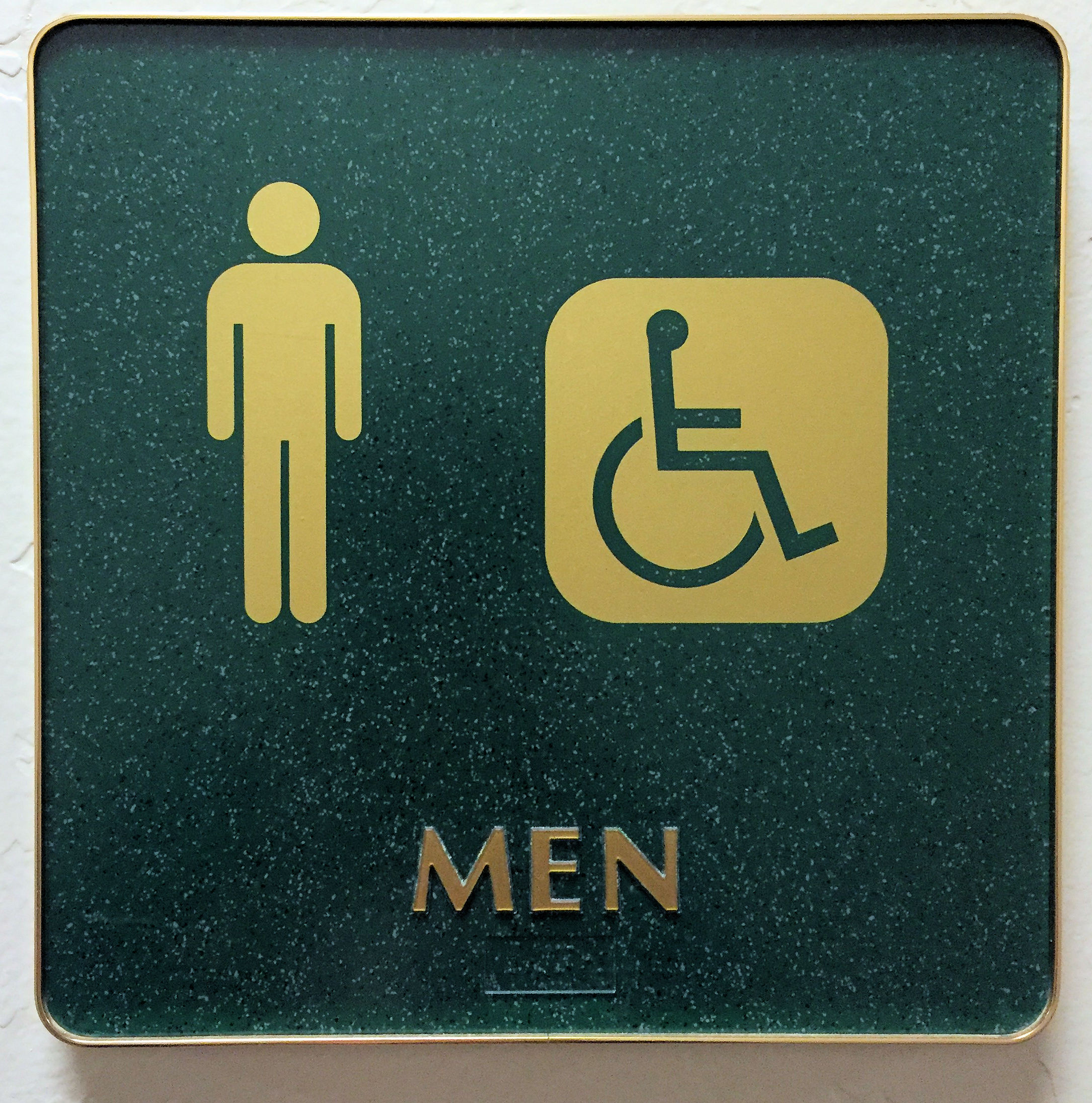 MEN- a sign for a restroom