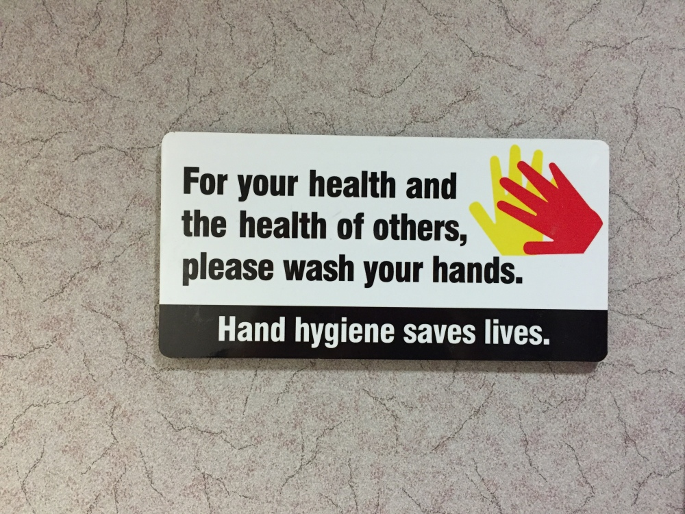 Hand hygiene saves lives.