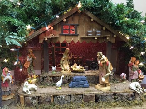 Christmas manger display