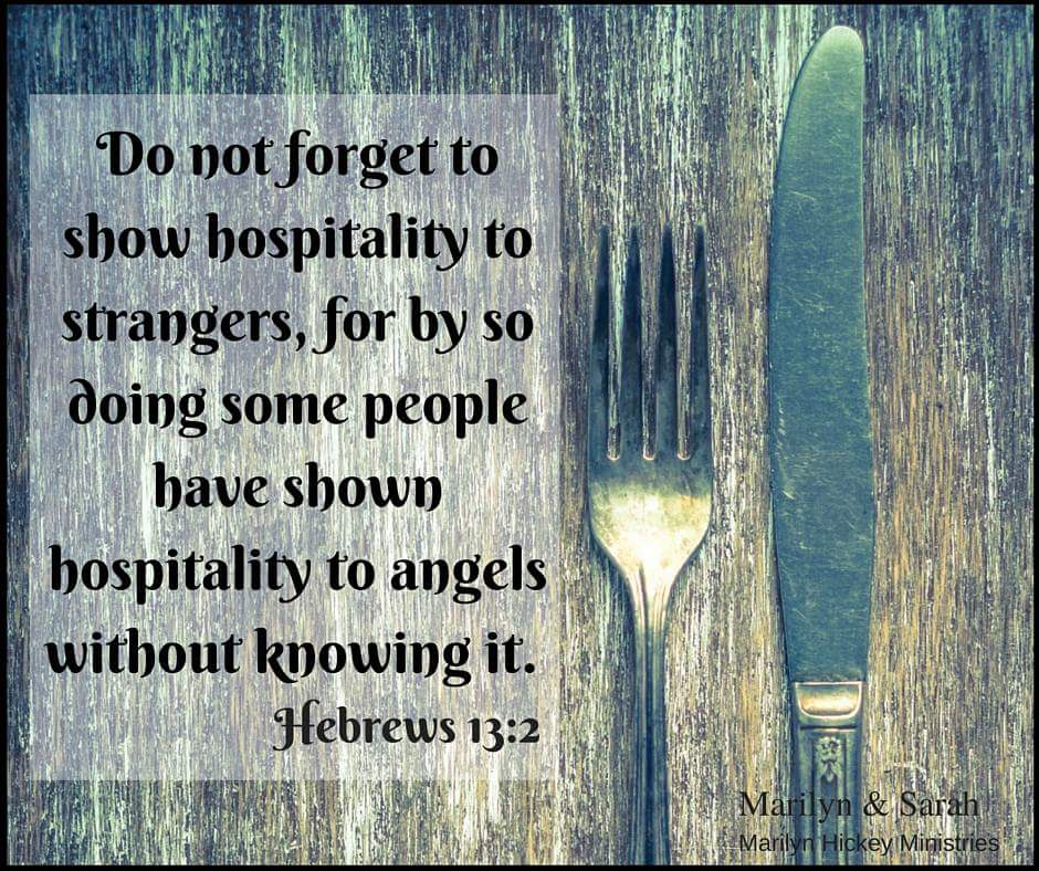 Do not forget to show hospitality Hebrews 13:2 from Marilyn Hickey Ministries
