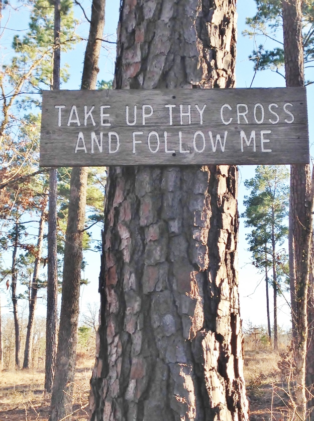take up thy cross and follow me