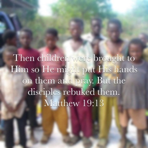 Children were brought to Jesus so he might put His hands on them Matthew 19:13