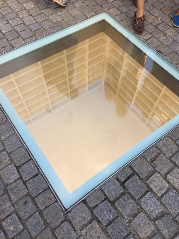 The burned books memorial in Berlin