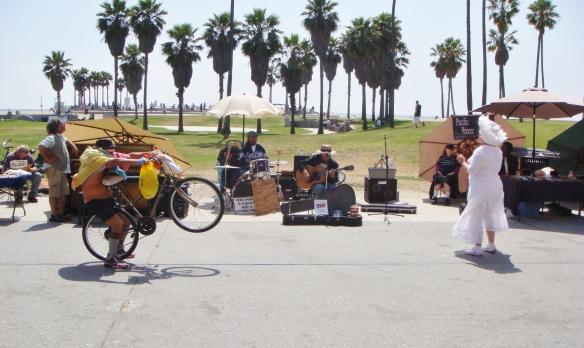 musicians on California beach