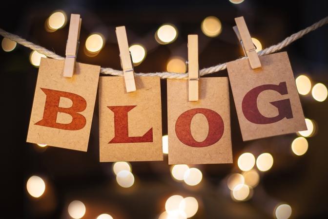 block letters spelling BLOG