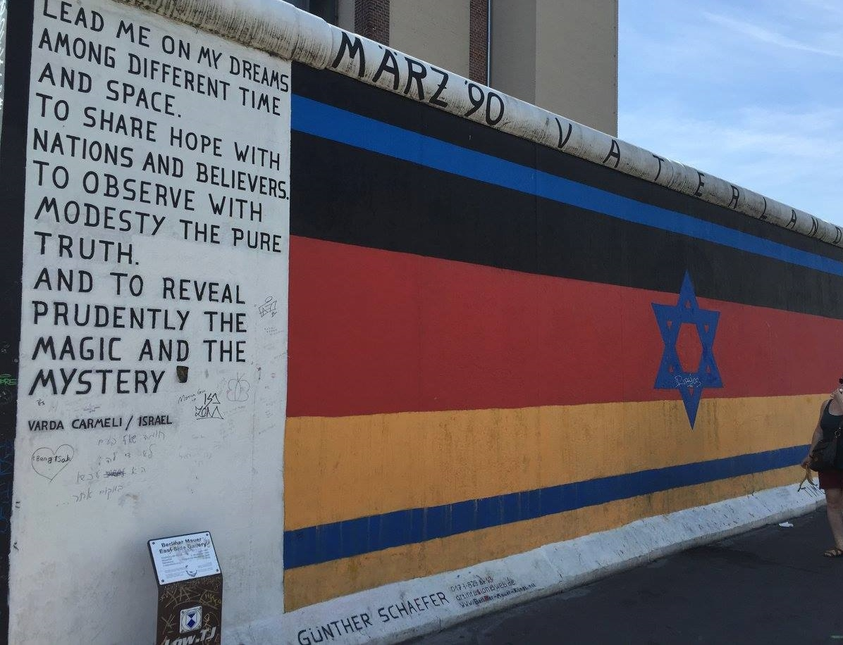 One of many murals on the east Berlin Wall