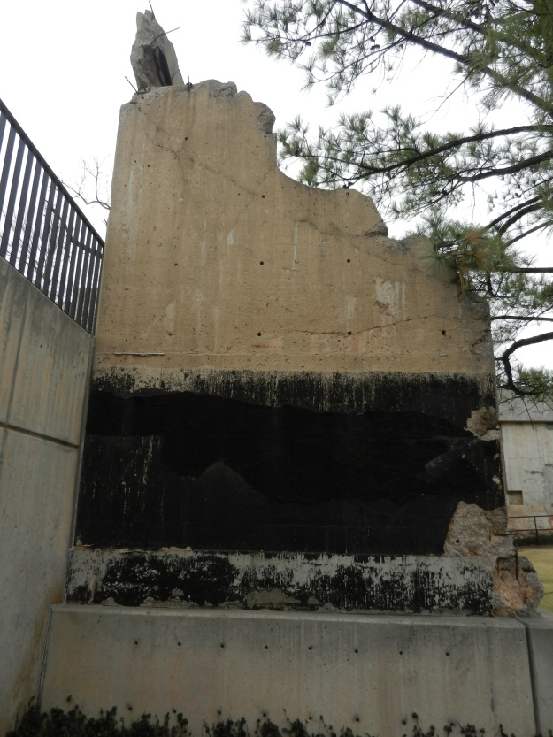 sections of damaged wall