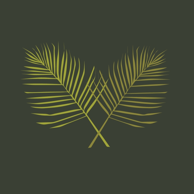 two crossed palm branches