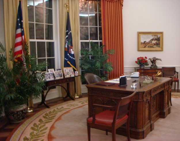 The Presidential Oval Office at the Reagan Library