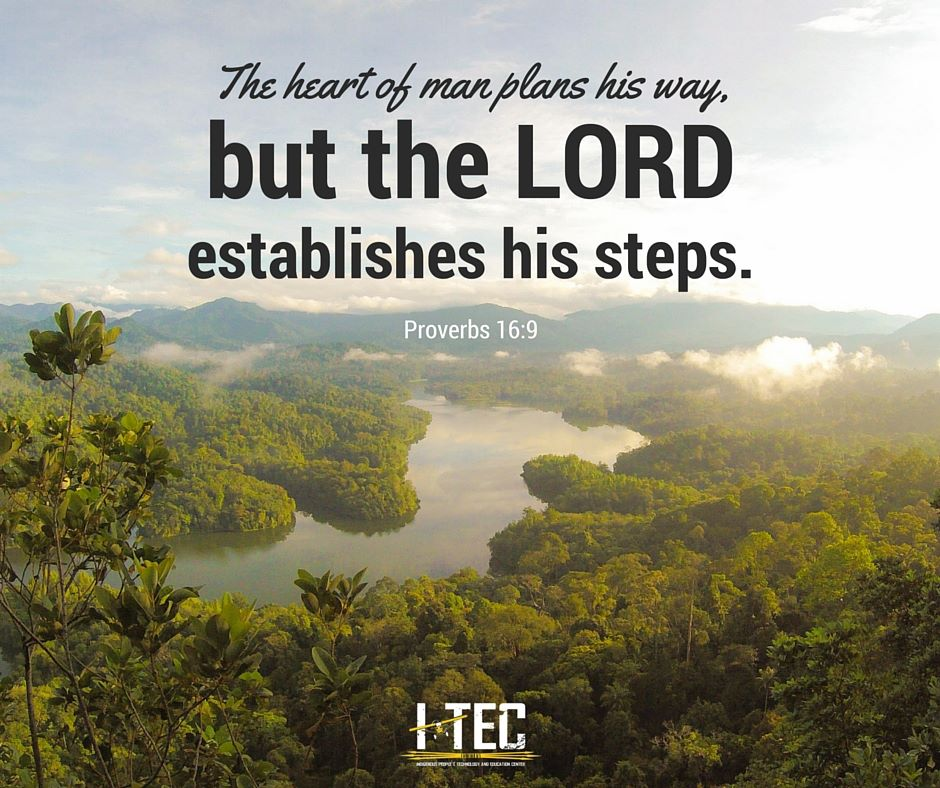 The Lord establishes his steps Proverbs 16:9