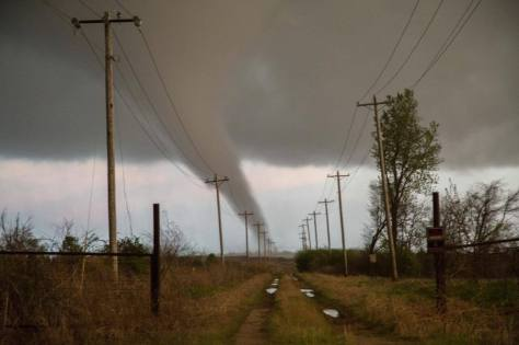 a tornado in Oklahoma