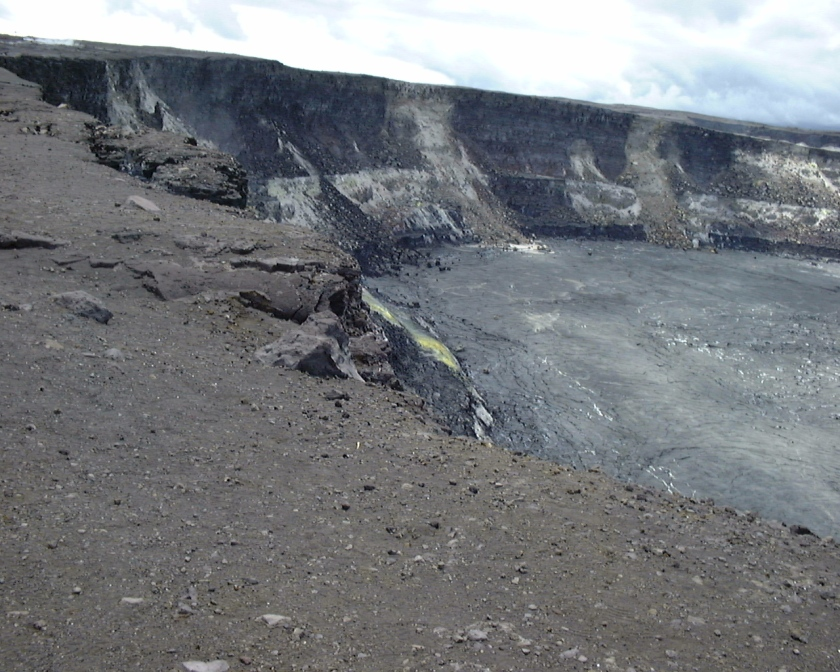 a volcanic crater closer view