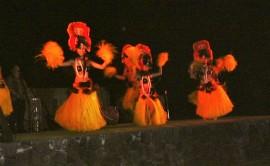 dancers in grass skits