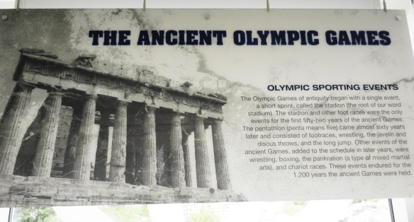 The Ancient Olympic GAmes sign