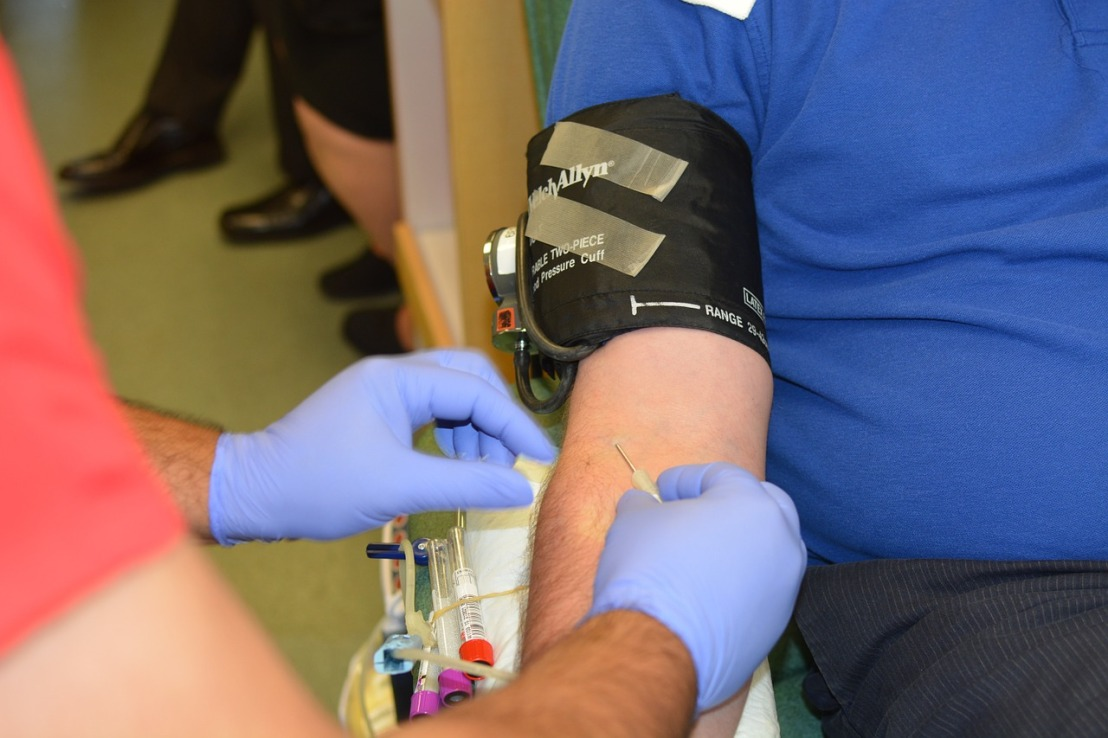 person donating blood