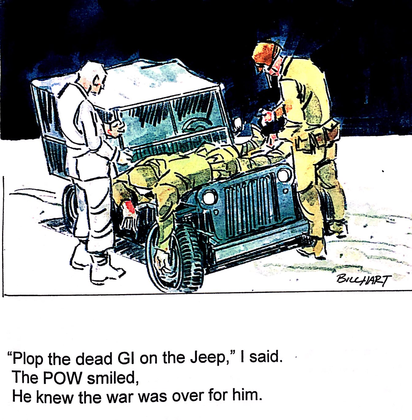 2 SOLDIERS AND A JEEP