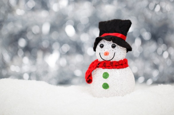 a decorative snowman figure