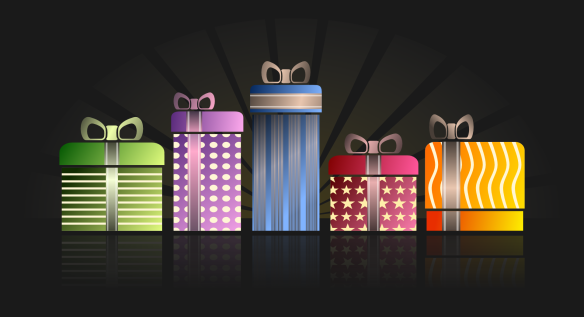 decorative wrapped packages