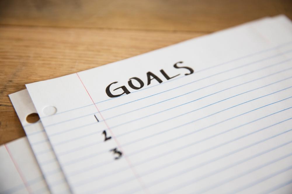 GOALS written on a sheet of paper