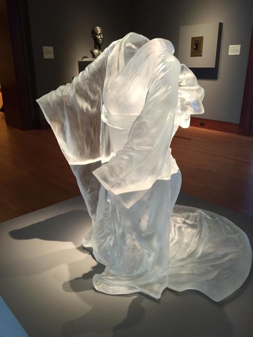 crystal statue of a kimono