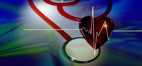 the HEART of HEALTH- a heart and a stethoscope