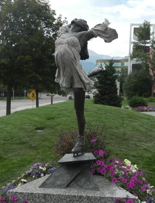 ice skater statue