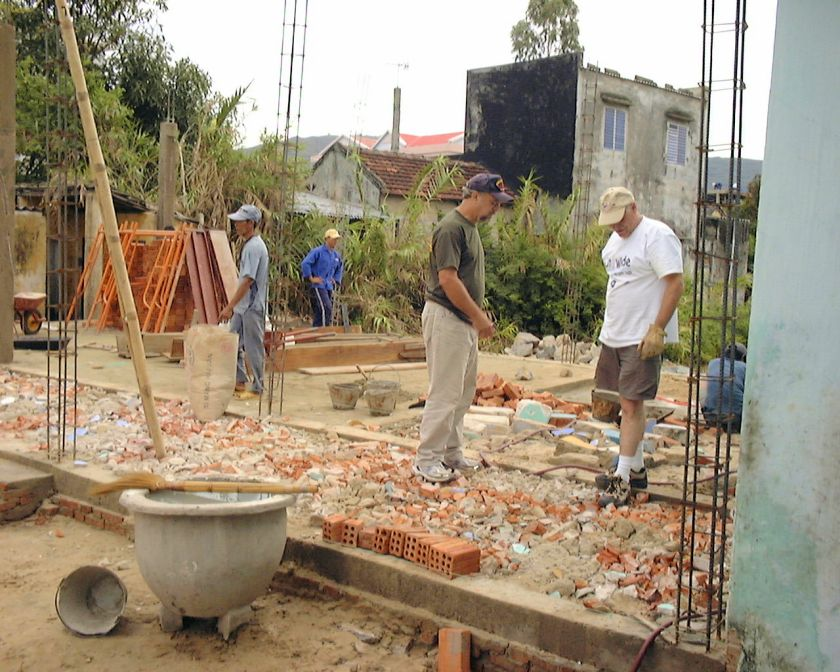 a basic construction site with bricks