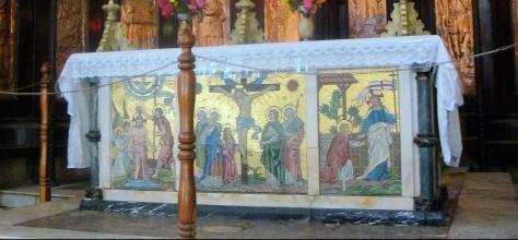 ornate altar in a church