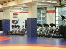 gym, treadmills, exercise bikes