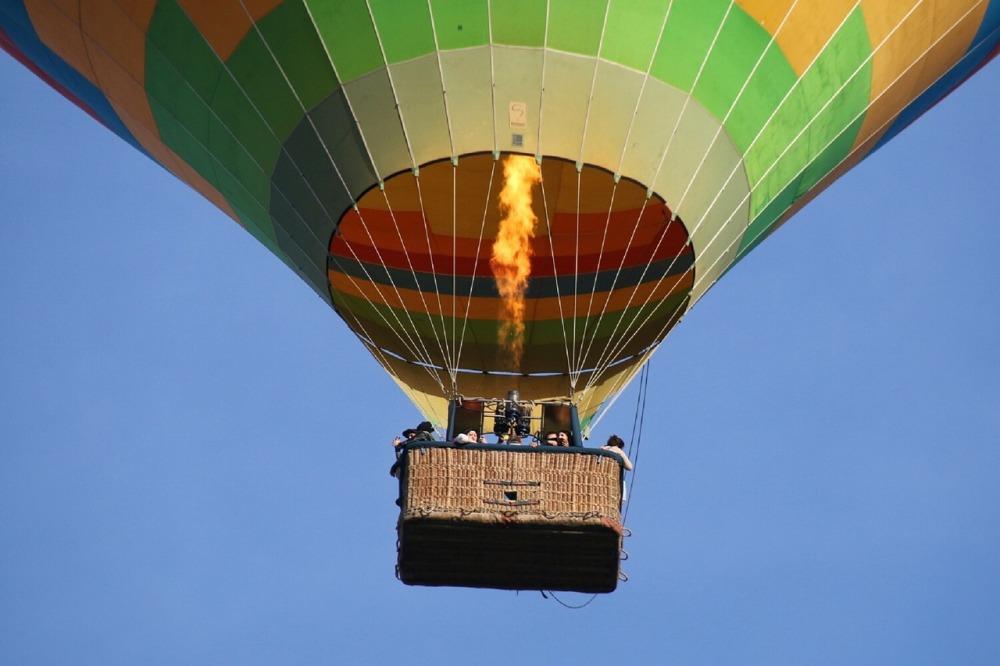 up close look at a hot air balloon