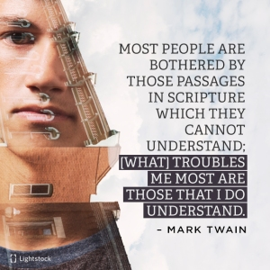 quote from Mark Twain about the Bible