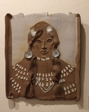 artist rendering of a Native American woman