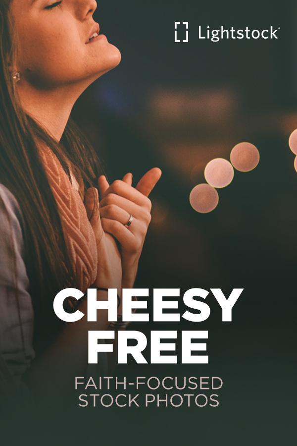 Cheesy free faith-focused stock photos