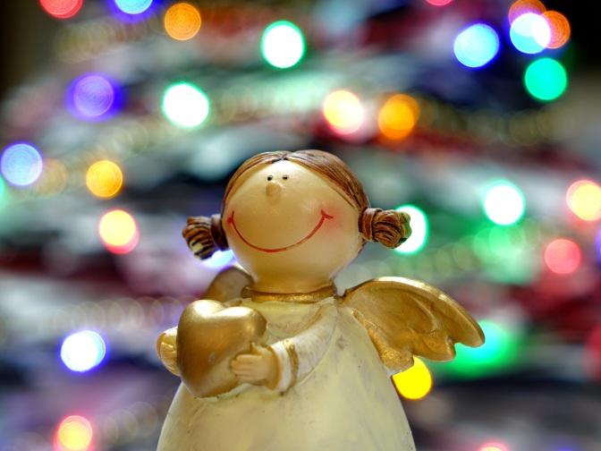 an angel figurine
