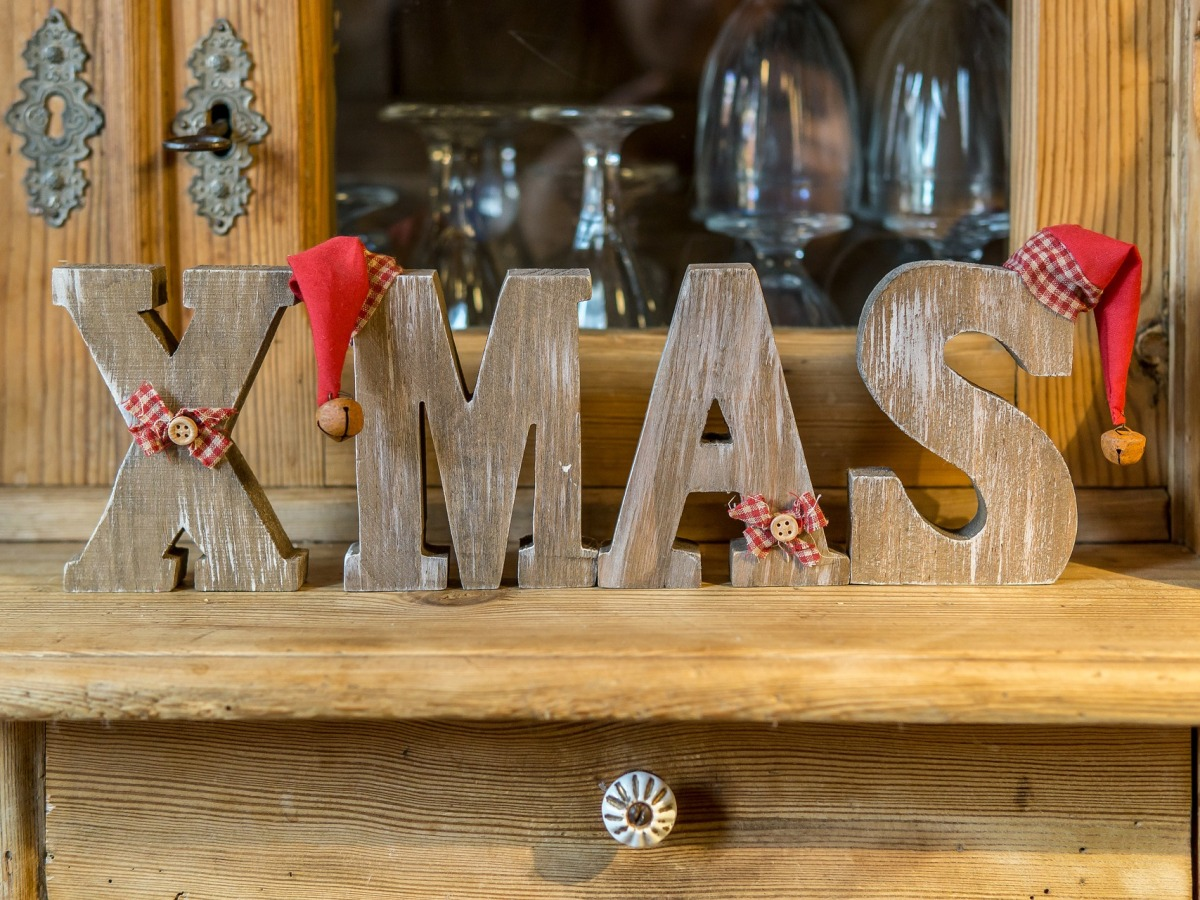 wooden letters XMAS