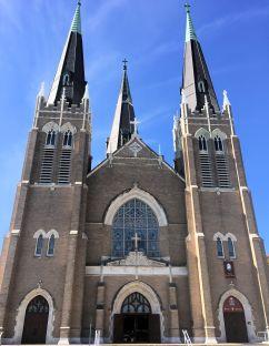 a large ornate Catholic church